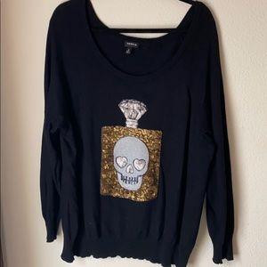 Torrid skull sweater